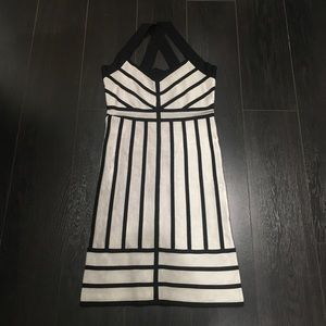 French connection silver and black dress